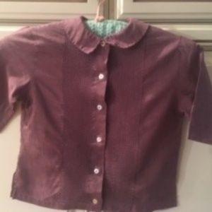 Vintage, 70's Purple Pleated Girls Shirts